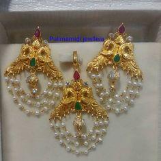 Simple Pearls Tassels Pendant Earrings