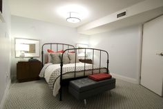 Income Property on HGTV, your source for Income Property videos, full episodes, photos and updates. Watch Income Property on HGTV. Cozy Basement, Basement Apartment, Basement Bedrooms, Basement Ideas, Storage Bench Seating, Bed Storage, Two Bedroom, Bedroom Decor, Bedroom Ideas