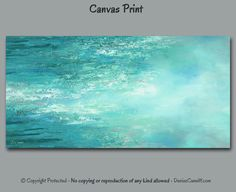 Beach decor, Large abstract canvas wall art print by Denise Cunniff. Suitable for aqua gray teal turquoise blue or green home or office decor. View more info at https://www.etsy.com/listing/487668063