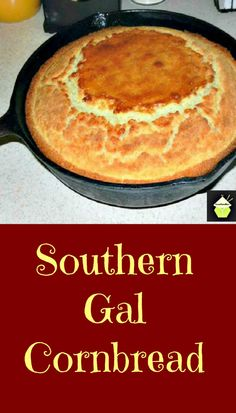 Homemade Southern Gal Cornbread, no box mixes and choose for sweetened or not! A great recipe for sure! Homemade Southern Gal Cornbread, no box mixes and choose for sweetened or not! A great recipe for sure! Southern Cornbread Recipe, Moist Cornbread, Buttermilk Cornbread, Homemade Cornbread, Southern Recipes, Cornbread Recipes, Southern Food, Cornbread Recipe No Sugar, Puddings