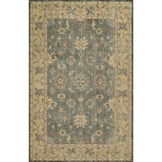 """Meridian Rugmakers Barcelona Hand-Knotted Charcoal/Beige Area Rug Rug Size: Runner 2'6"""" x 8'"""