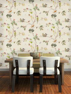 Sanderson Woodland Chorus Wallpaper - 215703 - Cream