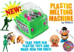 The RONCO plastic melting machine.  Take your old toys and make new ones!! #minimalism @rethinkgood