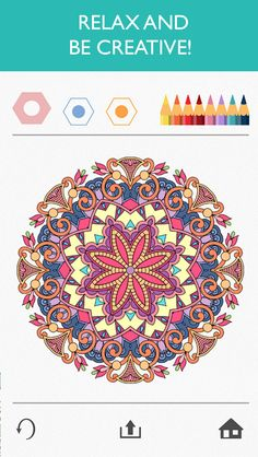 ADULT COLORING Book Trend app Colorfy  for iOSAndroidKindle