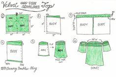 Velvet off the shoulder top DIY tutorial