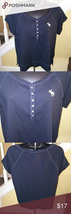 Abercrombie and Fitch Short Sleeve Top Small Navy Blue Short Sleeve Cotton Modal Blend Small. NWOT Abercrombie & Fitch Tops