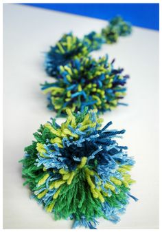 DIY Planet Earth Pom-Poms