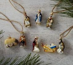 Mini Nativity Ornaments, Set of 8 by Pottery Barn