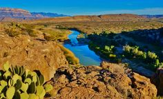 The Rio Grande River in Big Bend National Park - Feb. 2015 - http://www.loveyourrv.com/short-sunset-hike-in-big-bend-national-park/