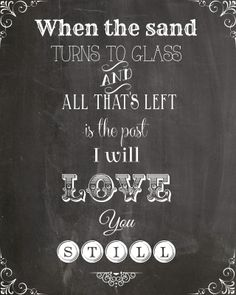 Dashboard Confessional Lyric Chalkboard Printable from Gravy Over Everything