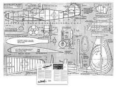 Vintage Planes Me - plan thumbnail Rc Plane Plans, Airplane Art, Airplane Design, Balsa Wood Models, Rc Model Airplanes, Old Planes, Vintage Airplanes, Aircraft Design, Paper Models