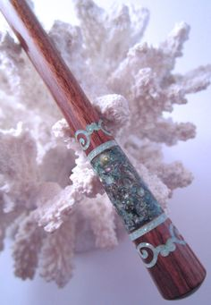 The Princess Eve Scroll Hair Stick by TimberstoneTurnings on Etsy