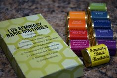 Seminary Basic Doctrines Candy Box for LDS Seminary students and teachers.  Great for Christmas and Introduction to Seminary meetings.