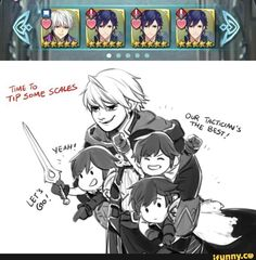 Fire Emblem Heroes Robin and Chroms