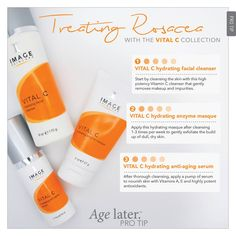 Have you ever used the Vital C Collection to help heal Rosacea? #rosacea #skincare #healing #treatment #AgeLater #ImageSkincare #VitalC
