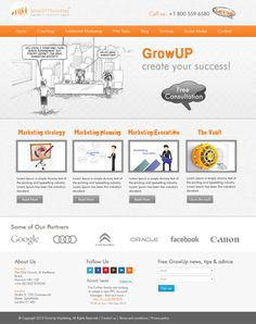 Free WordPress Template - CrowUP Marketing http://www.freetemplatesonline.com/templates/Free-WordPress-Template-CrowUP-Marketing-452.html