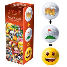 Give the gift of Emoji with this novelty pack of 3 golf balls, perfect for birthday present ideas, fathers day gifts and kids presents too! Gifts For Golfers, Golf Gifts, Happy Fathers Day, Fathers Day Gifts, Emoji Caca, 3 Balls, Golf Shop, Presents For Kids, Golf Lessons