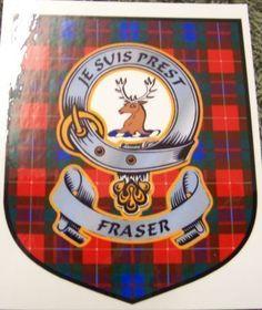 Fraser Clan Tartan Clan Fraser Badge Sticker
