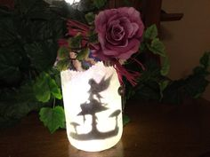 Fairy Night Light, Fairy in a Jar, Fairy on a Mushroom by ADragonflyCreation on Etsy