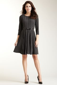 Lace Inset Pleated Skirt Dress-super cute and attractive www.adealwithGodbook.com