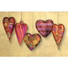 Each set of 5 Hand-Painted ''Love In The Air'' Heart Ornaments is handcrafted by our skilled artisans in the Philippines. Heart Ornament, Heart Beat, Tim Holtz, In A Heartbeat, Heart Shapes, Whimsical, Give It To Me, Beans, Challenge