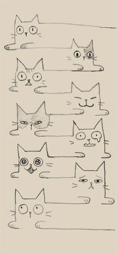 Super Ideas For Cats Drawing Ideas Doodles Kitty Cat Drawing, Painting & Drawing, Drawing Ideas, Trippy Painting, I Love Cats, Crazy Cats, Doodles, Doodle Art, Cat Doodle