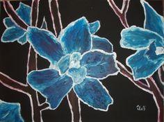 Blue Orchid, acrylics 30x40cm -- Trine Meyer Vogsland