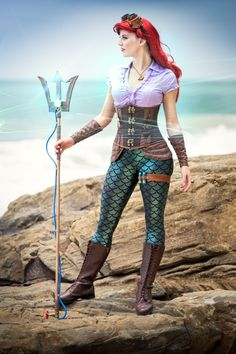steampunk cosplay disney | Ariel the little Steampunk Mermaid Cosplay. The Artful Dodger and The ...