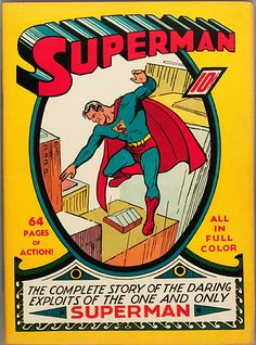 Superman Vintage Comic Book Cover - Enlarged & Framed Wall Art — giclee print and framed in USA by MUSEUM OUTLETS