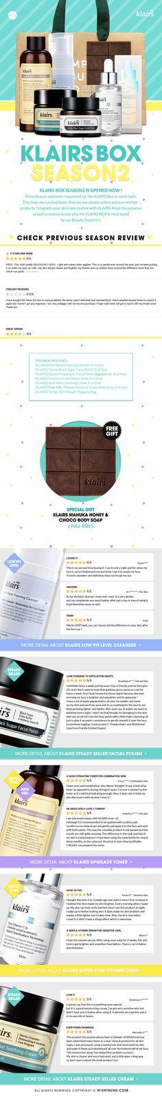 [WISH BOX ] WISH BOX (NO.47) X KLAIRS (SEASON2) Finally, We're back ! Meet the KLAIRS' steady seller and current hot items !
