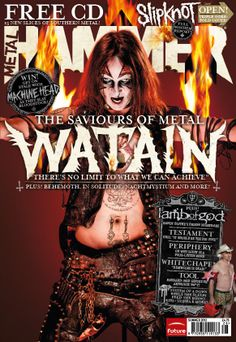MHR234 Watain cover from 2012 for Metal Hammer Magazine in the UK with photographer John McMurtrie.