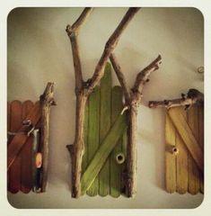 Best DIY Fairy Furniture - ideas and images Fairy Garden Doors, Fairy Garden Houses, Fairy Doors, Diy Fairy House, Diy Fairy Door, Fairy Gardening, Fairies Garden, Diy Door, Flowers Garden