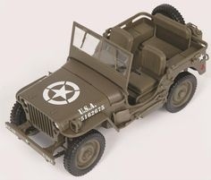 1:18 Scale 1/4-ton U.S. Army Truck Diecast Model:  Officially known as the 1/4-ton U.S. Army truck, the hard-working WWII 4x4 was born out of necessity and grew up to inspire an entire category of recreational off-road vehicles. Recreated here in exacting detail, this 1:18 scale diecast model reports for duty with authentic markings on an olive-drab paint job, poseable steering, military-spec tires and spare, side-mounted tools, an opening hood, a fold-down windshield, and tons of ...
