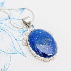 Blue Lapis Oval Drop Pendant | Charlotte's Web Druzy Ring, Gemstone Rings, Charlotte's Web, Winter Season, Buy Now, Drop, Jewellery, Pendant, Blue