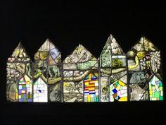 Een vijfdelig werk 'huizen'