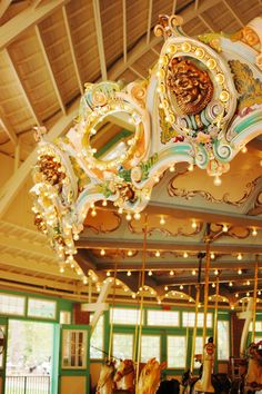 Vintage carousel at Glen Echo Park, Maryland.