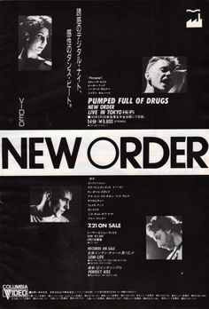 miracle-jun:NEW ORDER // Pumped full of Drags 〜Live in Tokyo〜