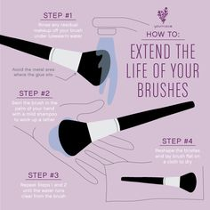 A fab tip to clean your brushes is to hang them from a draw handle so the water drips off the brush and not down the brush handle.