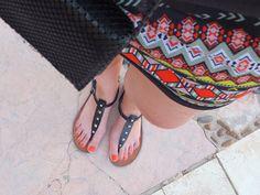 Fashion Love: URLAUBSOUTFIT: SPORTY AZTEK PRINT DRESS & SANDALS