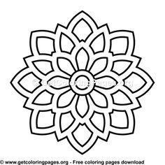 36 Simple Mandala Coloring Pages Simple Mandala Tattoo, Mandala Tattoo Design, Mandala Drawing, Easy Mandala, Easy Coloring Pages, Mandala Coloring Pages, Pattern Coloring Pages, Coloring Sheets, Coloring Books