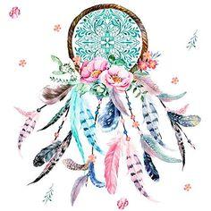 Cats Fabric - Pink & Aqua Dreamcatcher by shopcabin - Cat... https://www.amazon.com/dp/B01N5T3U5H/ref=cm_sw_r_pi_dp_x_6LKUybD72DNAQ