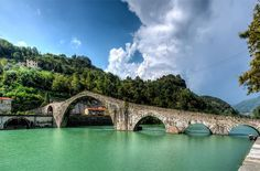 Devil's Bridge, Italy. Photo by Paul Richards..(Don't know for sure if that's the correct name)