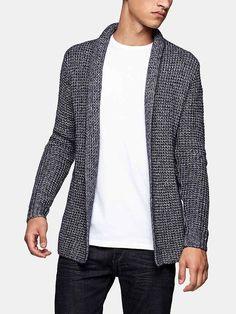 Herenmode, Mills Brothers lang gemeleerd en grofgebreid vest. MEER http://www.pops-fashion.com/?p=31621