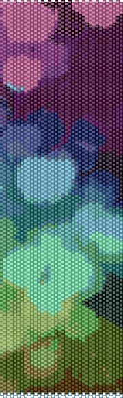 BPBU0003 Bubbles 3 Even Count Single Drop Peyote Cuff/Bracelet Pattern