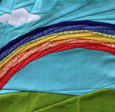 Trillium: Spring Fling QAL ~ Week Rainbows anyone? Some special foundation piecing going on here Rainbow Blocks, Rainbow Quilt, Rainbow Paper, Paper Pieced Quilt Patterns, Pattern Paper, Foundation Paper Piecing, Quilt Stitching, Quilting Designs, Quilt Design