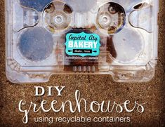 DIY Greenhouse: Homemade Mini Containers for Seeds. Lots of examples of making homemade greenhouses using recycled materials!