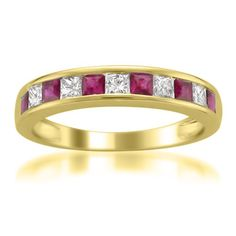 Looking for Diamonds White Gold Princess-cut Diamond Red Ruby Wedding Band Ring cttw, H-I, ? Check out our picks for the Diamonds White Gold Princess-cut Diamond Red Ruby Wedding Band Ring cttw, H-I, from the popular stores - all in one. Wedding Rings Rose Gold, White Gold Rings, Ruby Wedding, Wedding Gowns, Diamond Bands, Diamond Wedding Bands, Solitaire Diamond, Diamond Flower, 1 Karat