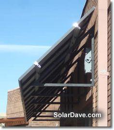 solar awnings angle
