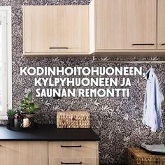 Nelihenkisen perheen kylpyhuone, sauna ja kodinhoitohuone remontoitiin lattiasta kattoon. Halkeilevat laatat, ristikkäin avautuvat ovet ja oudot sähkökytkennät ovat nyt historiaa. Ovet, Home Decor, Decoration Home, Room Decor, Home Interior Design, Home Decoration, Interior Design