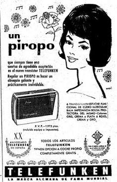 """Yo fuí a EGB .Recuerdos de los años 60 y 70.La publicidad en los años 60 y 70.Primera parte,coches,""""tecnología"""".....   Yo fuí a EGB. Recuerdos de los años 60 y 70. Vintage Advertisements, Vintage Ads, Radios, Alfons Mucha, Transistor Radio, Lps, Nostalgia, Advertising, Memes"""